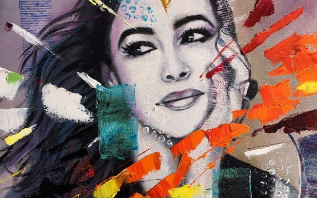 Monica - Portrait - 46x55 10F