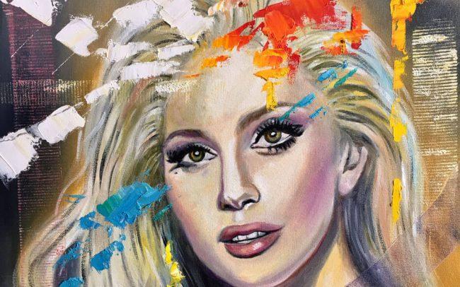 Lady Gaga - portrait - 50x61 12F
