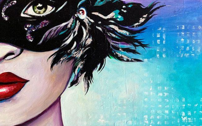 Soirée privée 2 - Acrylique sur toile 61x50