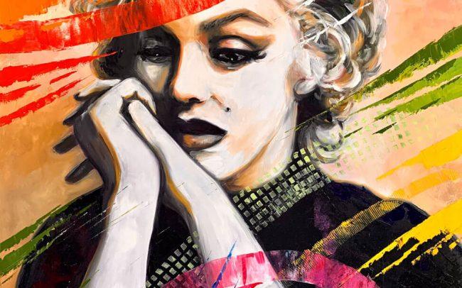 Marylin - Sublime silence huile sur toile 100x81
