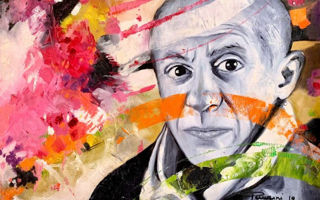 Picasso huile sur carton toile 70x50